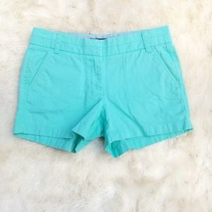 J. Crew Chino shorts turquoise blue cotton 2